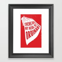 Lyric Poster - My Hero Framed Art Print