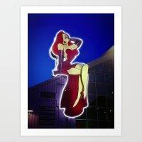 Jessica Rabbit Neon Sign… Art Print