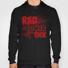 Rad to the Power of Sick - Red Print Hoody