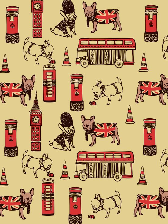 London Frenchies Art Print