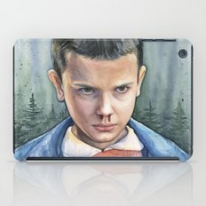Eleven from Stranger Things Watercolor Portrait Art iPad Case