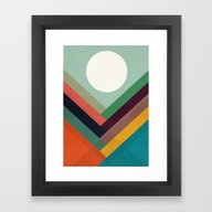Rows Of Valleys Framed Art Print