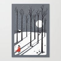 Little Red Cap Canvas Print