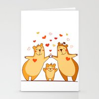 Family Of Bears Stationery Cards