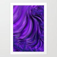 Purple Drapes Art Print