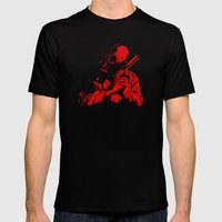 Red Dawn Mens Fitted Tee Black SMALL
