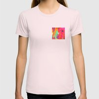 Gold Rush Womens Fitted Tee Light Pink SMALL