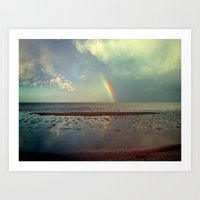 Rainbow Over Sea Art Print