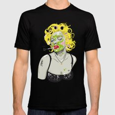 WTF? NATURAL MARILYN Black SMALL Mens Fitted Tee