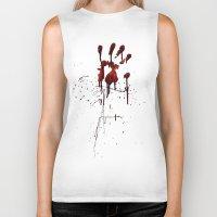 Zombie Attack Bloodprint - Halloween Biker Tank