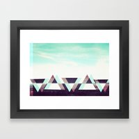 Field Of Triangles. Framed Art Print
