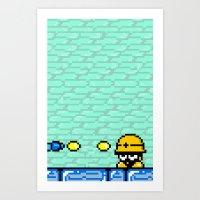Minion's Last Rites: Mega Man's Metool Art Print