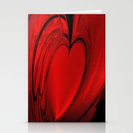 Red Heart  Stationery Cards