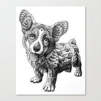 Corgi Puppy Canvas Print