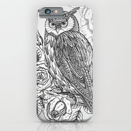 iPhone & iPod Case - Owl with flowers - UniqueD