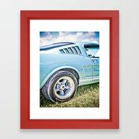 1966 Ford Mustang Fastba… Framed Art Print