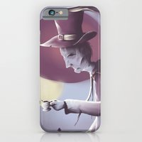iPhone Cases featuring The hatter by Jacques Marcotte
