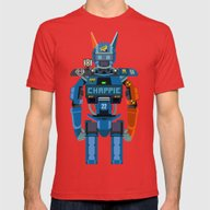 Chappie Vector Fanart Mens Fitted Tee Red SMALL