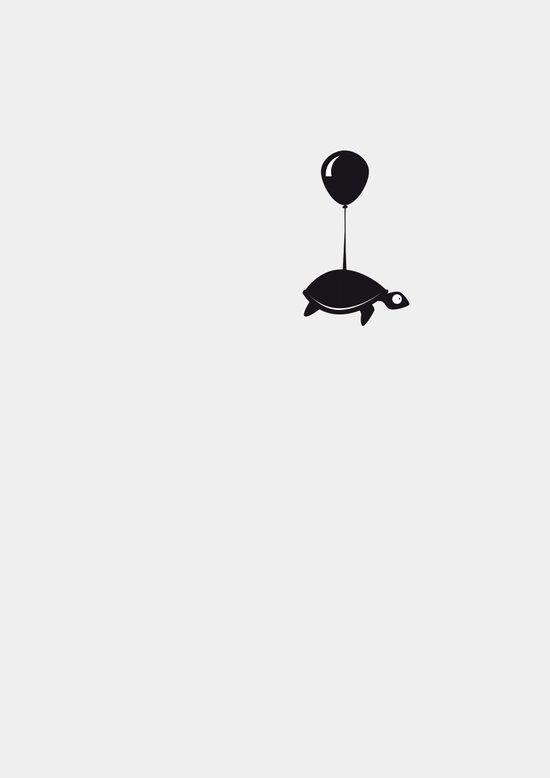 Turtle ups and leaves Art Print
