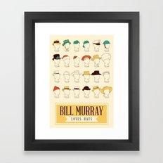 Bill's Hat Collection Framed Art Print