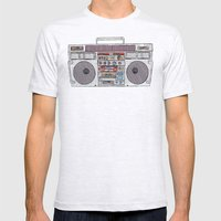 paper jams Mens Fitted Tee Ash Grey SMALL