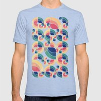 Vintage Garden Pattern V… Mens Fitted Tee Tri-Blue SMALL