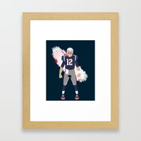 Pats - Tom Brady Framed Art Print