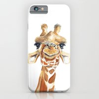 iPhone Cases featuring Giraffe  by Tussock Studio