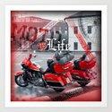Moto is life Art Print