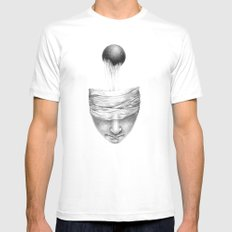 get your head out of the covers... SMALL Mens Fitted Tee White
