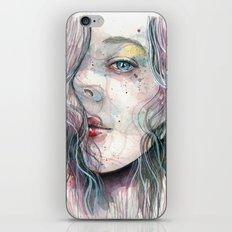 Sleepy violet, watercolor iPhone & iPod Skin