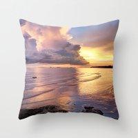 Stormy Glow Throw Pillow