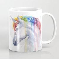 Rainbow Unicorn Watercol… Mug
