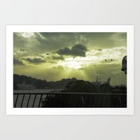 Heavenly Ride Art Print