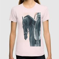 Friesian Horse 2 Womens Fitted Tee Light Pink SMALL