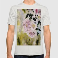 Rosy Days Mens Fitted Tee Silver SMALL