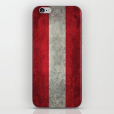 Austrian National flag - Grungy retro version iPhone & iPod Skin