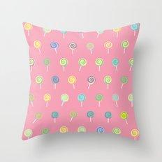 Cute Lollipop Pattern Throw Pillow