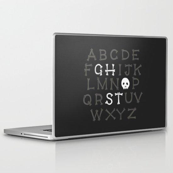 Somethin' strange in your alphabet Laptop & iPad Skin