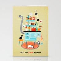 let´s cook together Stationery Cards
