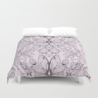 Rose Quartz Insect Wings Duvet Cover
