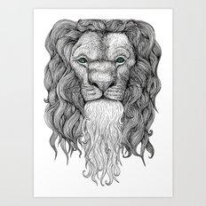 Gentleman Lion Art Print