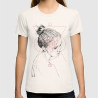 Face Facts II Womens Fitted Tee Natural SMALL