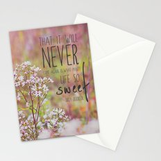 the sweet life  Stationery Cards