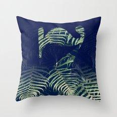 lucky Seven fade FERN Throw Pillow