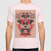 illustrated dreams Mens Fitted Tee Light Pink SMALL