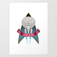 Boldly Go - 50th Anniversary Art Print