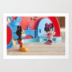 A mini photographer Art Print