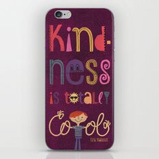 Kindness is totally cool iPhone & iPod Skin