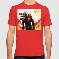 Onepunch Man Mens Fitted Tee Red SMALL